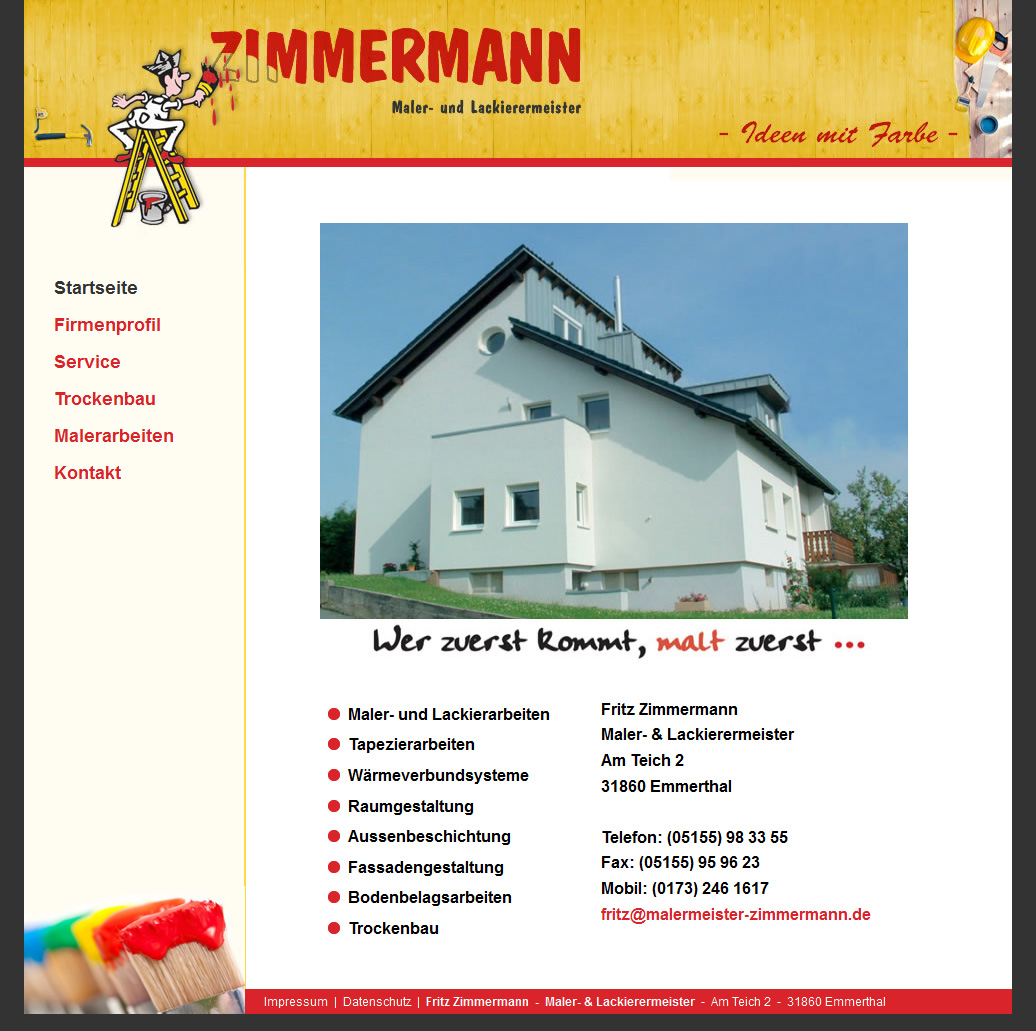 Maler Hameln webdesign referenz hameln emmerthal maler lackierermeister